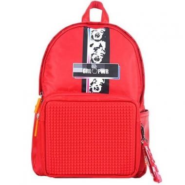 Фото Красный пиксельный рюкзак Girl Power BY-GB010