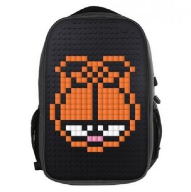 Фото Молодежный рюкзак с пиксельной панелью WY-A009 черный