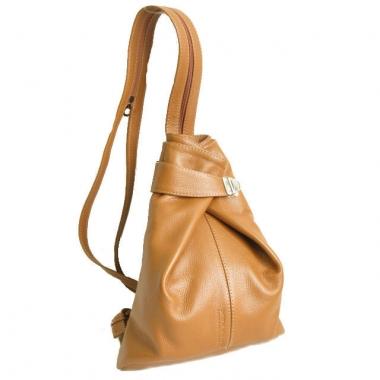 Фото Кожаная сумка-рюкзак KSK 5105 рыжая