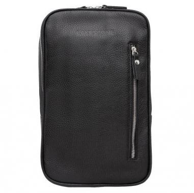 Фото Однолямочный кожаный рюкзак Scott Black