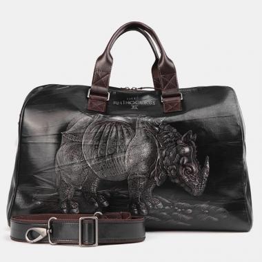 Фото Дорожная сумка с рисунком SD002 Black Носорог Дюрера