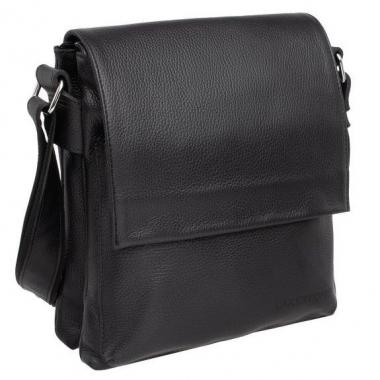 Фото Мужская черная сумка для небольших доументов Shellmor