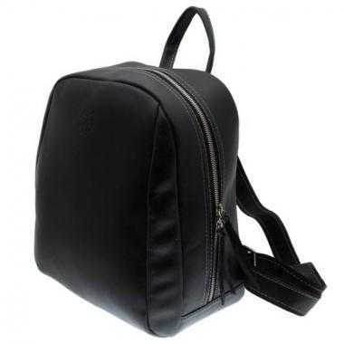 Фото Черный кожаный рюкзак Spider