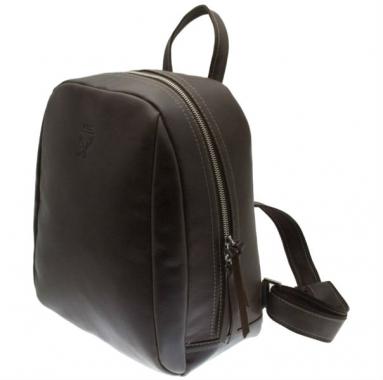 Фото Коричневый кожаный рюкзак Spider