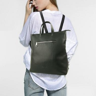 Фото Кожаная сумка-рюкзак 5515
