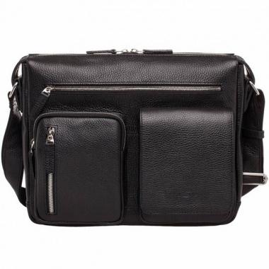 Фото Кожаная сумка через плечо Clapton Black