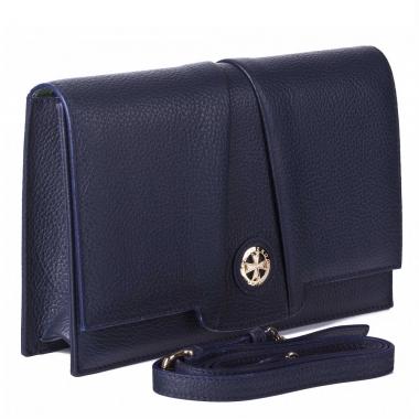 Фото Синяя сумка-клатч Narvin 9957 N.Polo D.Blue