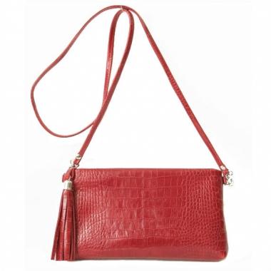 Фото Мини сумка через плечо красная 8408