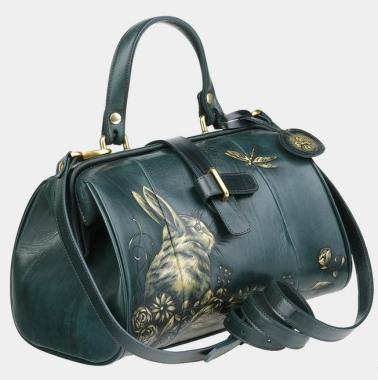 Фото Зеленая сумка-саквояж «Ла Ливьер»