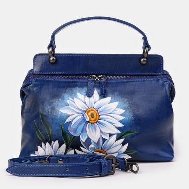 """Фото Женская сумка с крупными цветами """"Ромашки"""""""