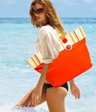 Фото Сумка пляжная оранжевая 10341