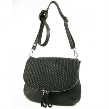 Фото Кожаная сумочка 401.4 черная