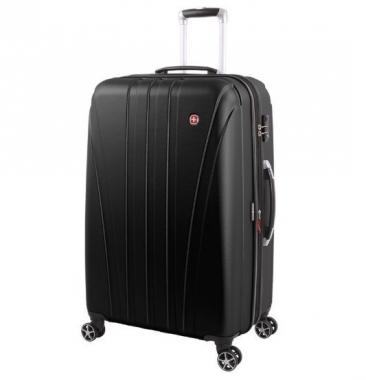 Фото Черный большой чемодан на колесах Tallac