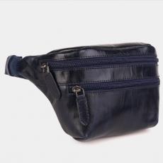 Кожаная сумка на пояс с двумя отделениями KB0015
