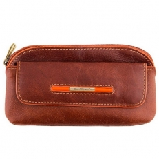 Кожаная ключница 0020-12-625A brown