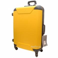 Желтый чемодан на колесах 00573