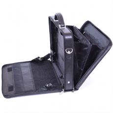 Черный кожаный кейс 04-019801 фото-2