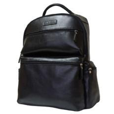 Большой рюкзак из натуральной кожи Фаэтано черный