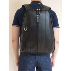 Кожаный рюкзак Раццоло черный