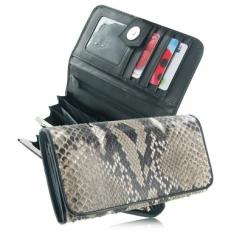 Женский кошелек из кожи питона, цвет: натуральный