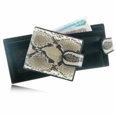 Мужской кошелек из кожи питона, цвет: натуральный