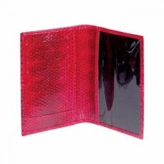 Обложка для паспорта из кожи змеи, цвет: красный