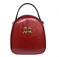 """Маленькая сумочка """"Два медведя"""" бордовая"""