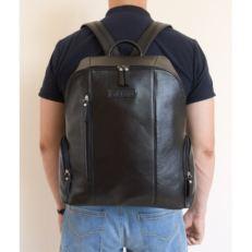 Городской кожаный рюкзак Версола черный фото-2