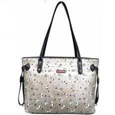 Серебряная женская сумка