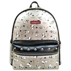 Женский рюкзак серебряный