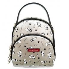 Мини рюкзак серебряный