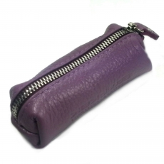 Кожаная ключница 1321 фиолетовая