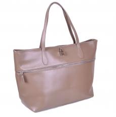 Женская кожаная сумка JRM бежевая