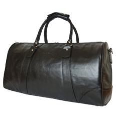 Кожаная спортивная сумка Галлинаро черная