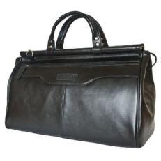 Кожаная сумка саквояж Альтамура черный