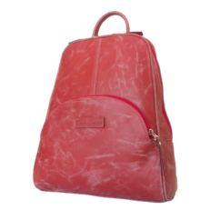 Красный женский кожаный рюкзак Эстенс