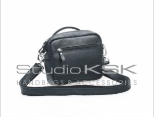 Маленькая черная сумка женская для документов 7501
