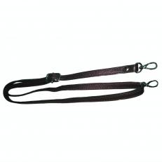 Кожаный ремень для сумки коричневый фото-2