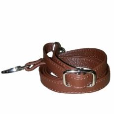 Регулируемый ремень на сумку коричневый