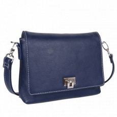 Кожаная сумочка 201754-Q71 синяя
