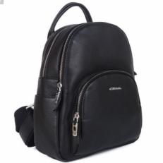 Черный кожаный рюкзак 201776 Q11