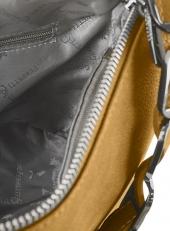 Желтая кожаная сумка 2019058B фото-2