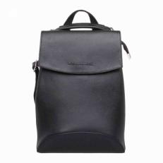 Черная сумка-рюкзак из кожи Ashley Black