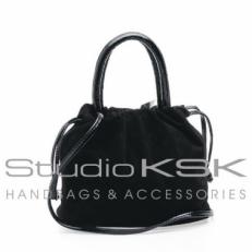 сумочка женская мешок черная замша 2316