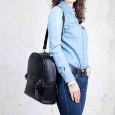Женский рюкзак-сумка Ambra Black