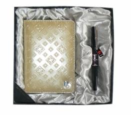 Подарочный Набор: Обложка для паспорта и ручка PS1138GD