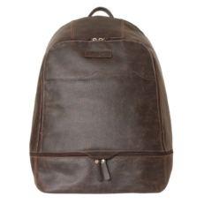 Мужской кожаный рюкзак Мерленго коричневый