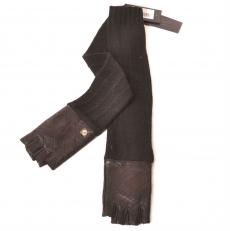 Перчатки без пальцев черные 29K-40038-2