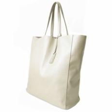 Большая женская сумка без подкладки 3002 белая