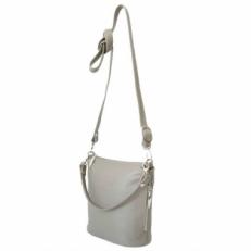 Кожаная мини сумка женская цвет капучино 303.6